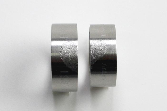 Pendants + Ring Engraving Machine MAGIC-5S Product example