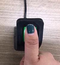 Fingerprint Scanner PROCESS 03. Scan a Fingerprint