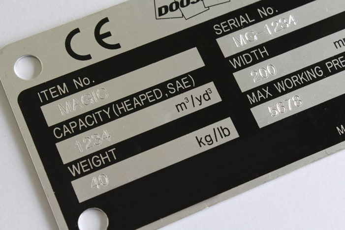 Nameplate Marking